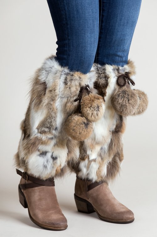 Spanish Rabbit Fur Boot Toppers