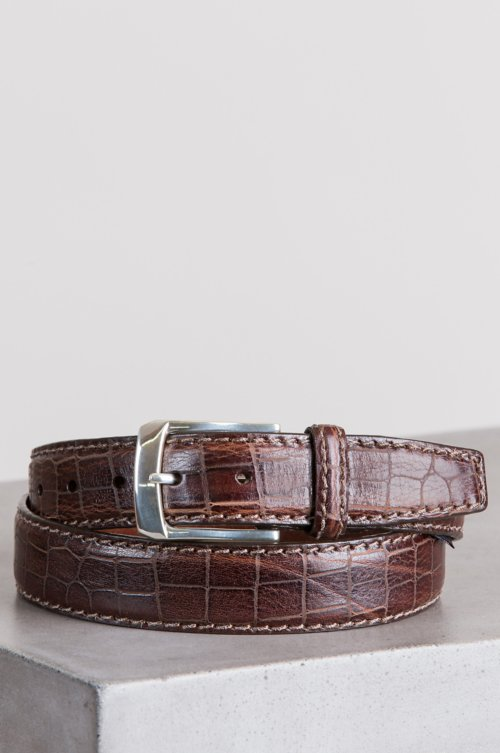 Escape Croco-Embossed Leather Belt