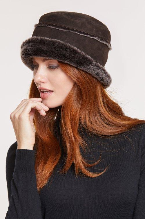 Spanish Merino Sheepskin Cloche Hat