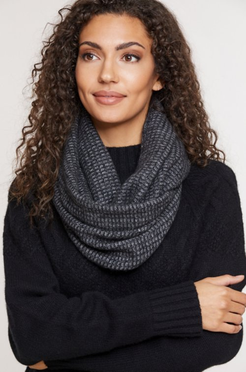 Hawthorn Waffle Knit Cashmere Infinity Scarf
