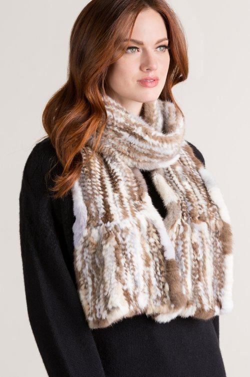 Knitted Danish Mink Fur Scarf