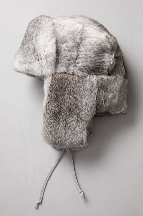 Russe Rabbit Fur Trapper Hat