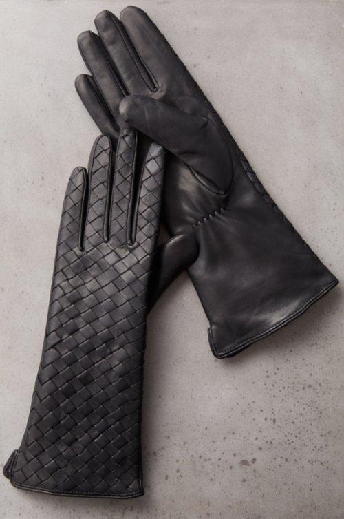 Women's Cyclamen Cashmere-Lined Lambskin Leather Gloves