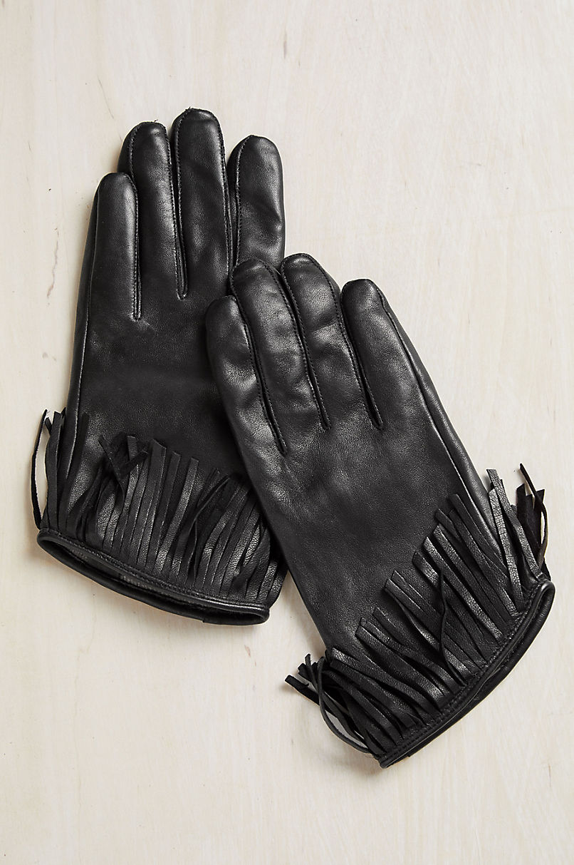 Women's Canna Cashmere-Lined Lambskin Leather Gloves