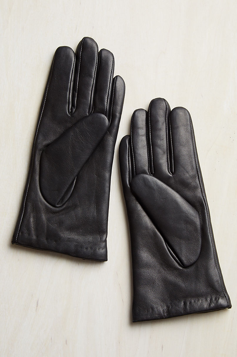 Women's Springwood Cashmere-Lined Lambskin Leather Gloves