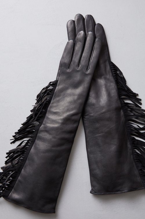 Women's Yarrow Cashmere-Lined Lambskin Leather Gloves