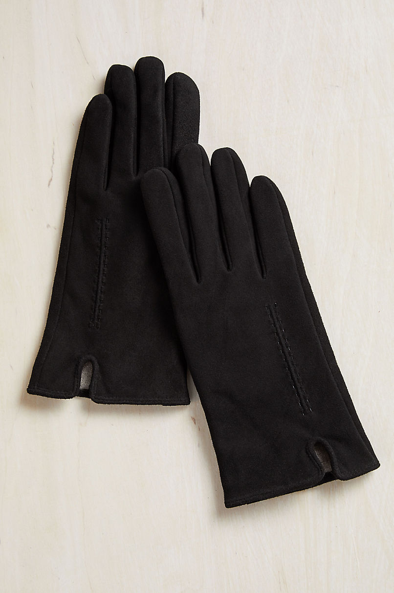 Women's Avens Cashmere-Lined Lambskin Suede Gloves