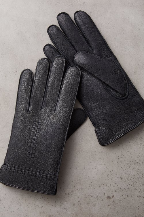 Men's Fraser Cashmere-Lined Goatskin Leather Gloves