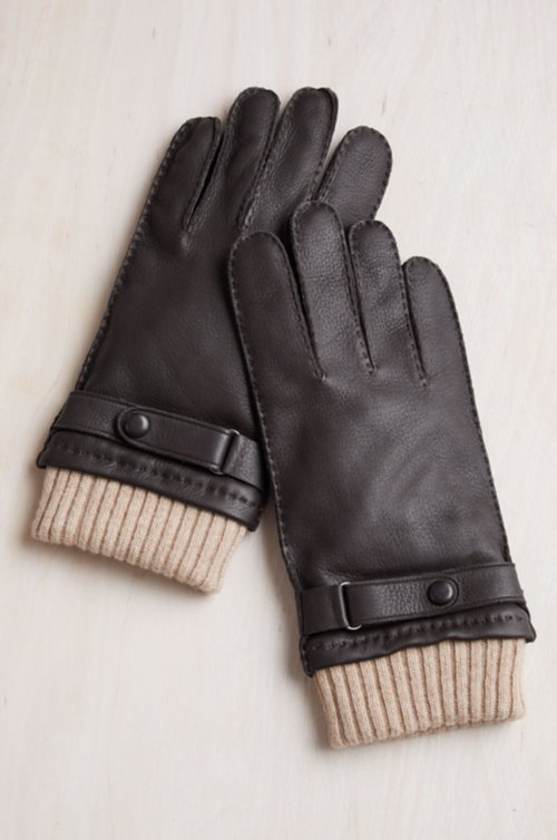 Men's Sycamore Cashmere-Lined Deerskin Leather Gloves