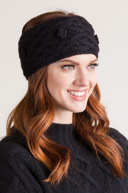 Cable Knit Peruvian Baby Alpaca Wool Headband