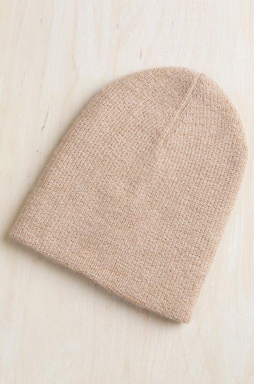 Double Knit Peruvian Baby Alpaca Wool Beanie Hat