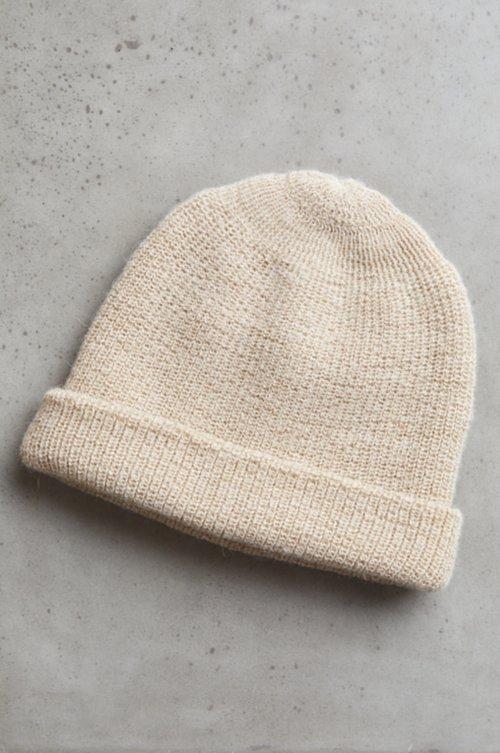 Double Knit Alpaca Wool Beanie Hat
