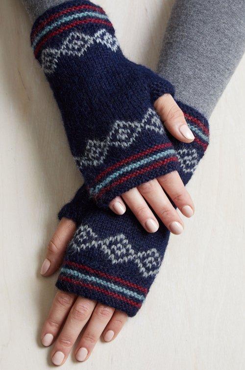 Zoe Peruvian Baby Alpaca Wool Fingerless Gloves