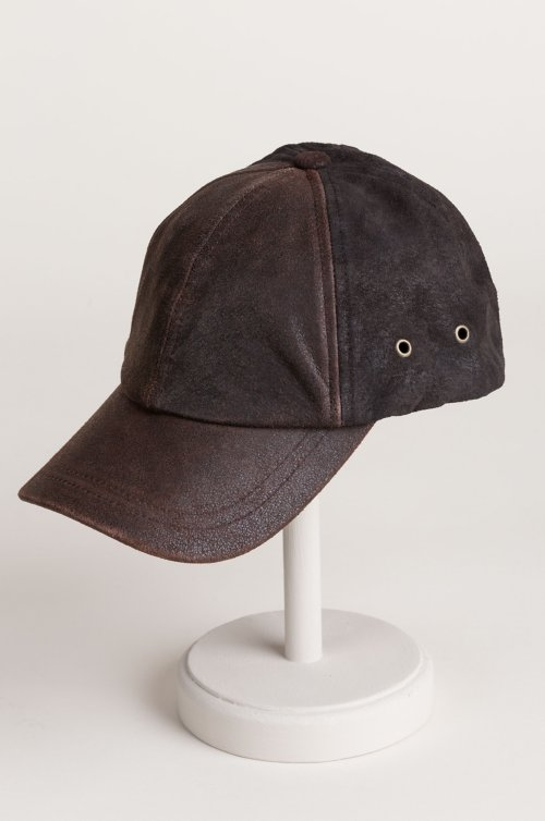 Buffalo Hide and Suede Baseball Cap