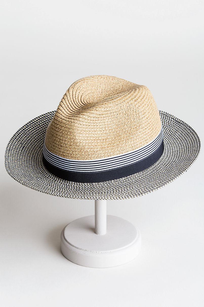 Palmer Toyo Straw-Blend Fedora Hat