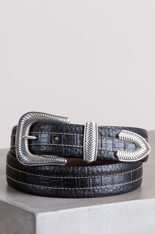 Coloma Bison Leather Belt