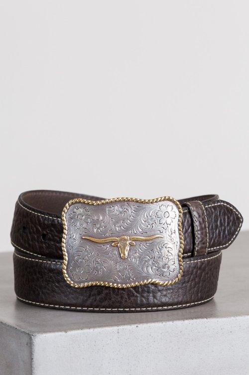 Maverick American Bison Leather Belt