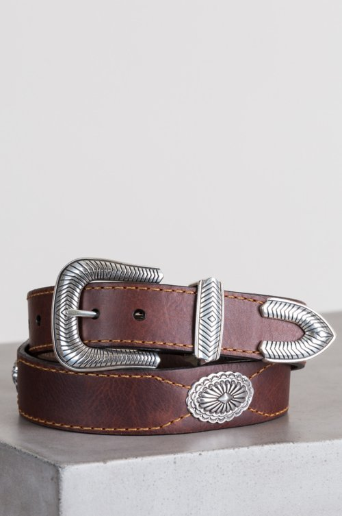 Dallas American Bison Leather Belt