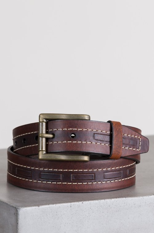 Tobasco American Bison Leather Belt