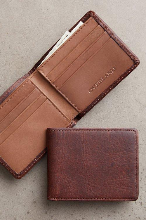 Bison Leather Billfold Wallet