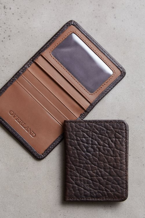 Tucson Bison Leather Card Case Wallet