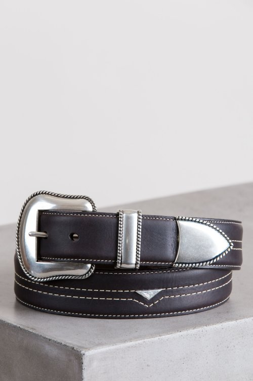 Blackjack American Bison Leather Belt