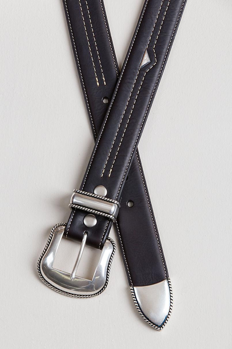 Blackjack American Bison Leather Belt