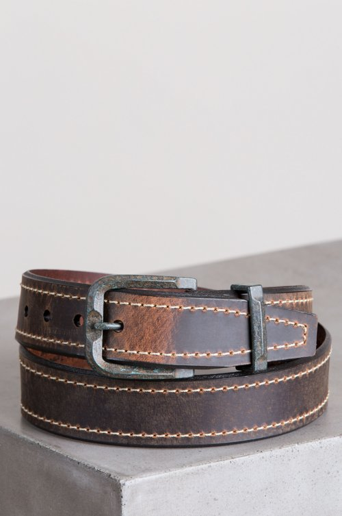 Bronx Tanned Buffalo Leather Belt