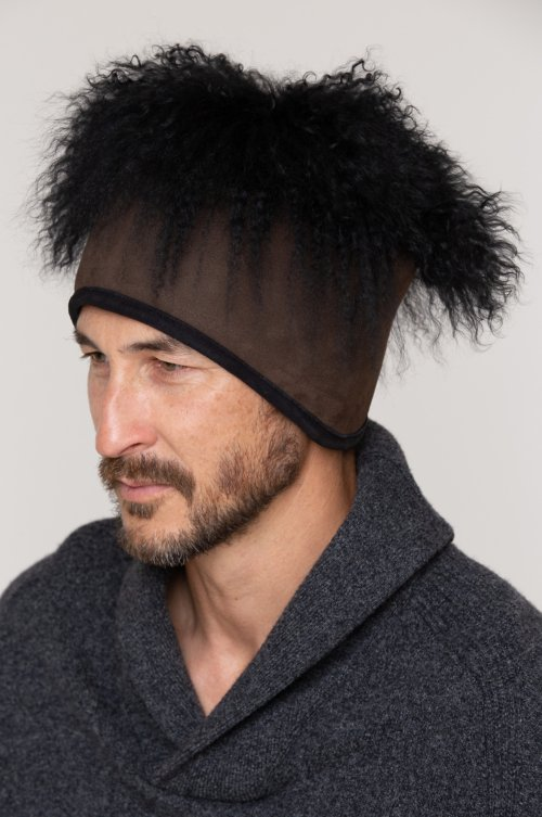 Mongolian Wig Shearling Sheepskin Cossack Hat
