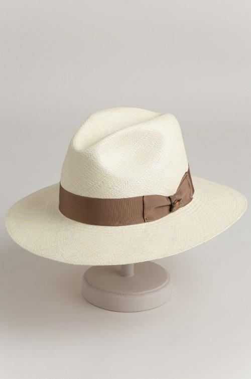 Biltmore Vinard Straw Fedora Hat with Grosgrain Hatband