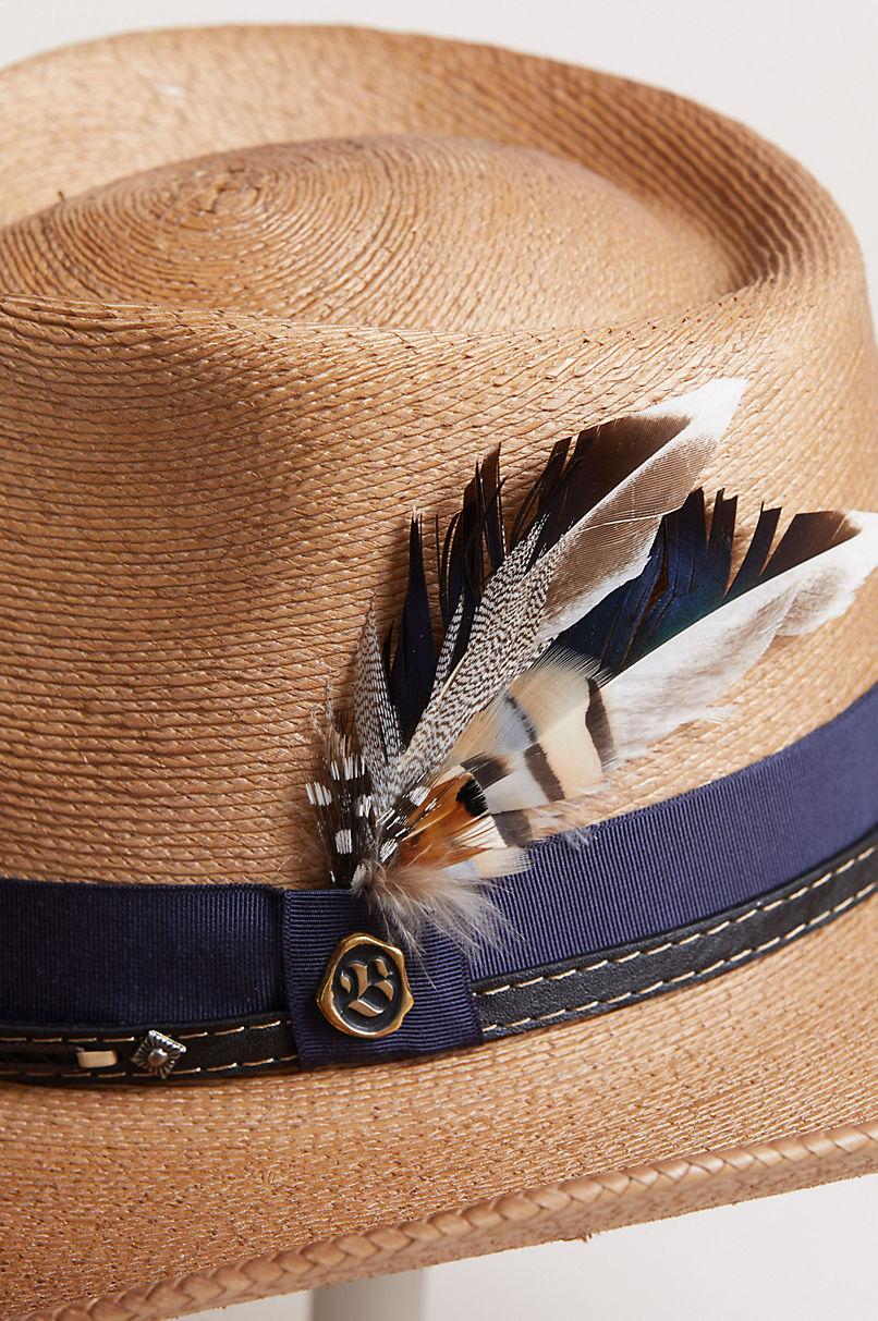 Folk Palm Fiber Western Hat