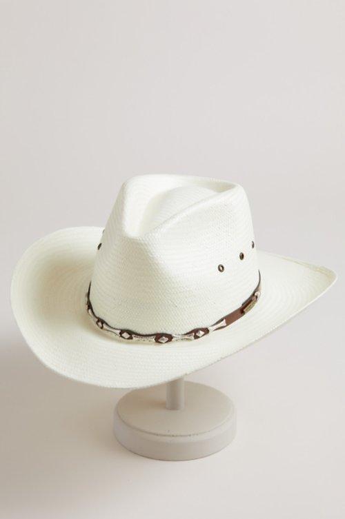 Dell Toyo Shantung Straw Cowboy Hat