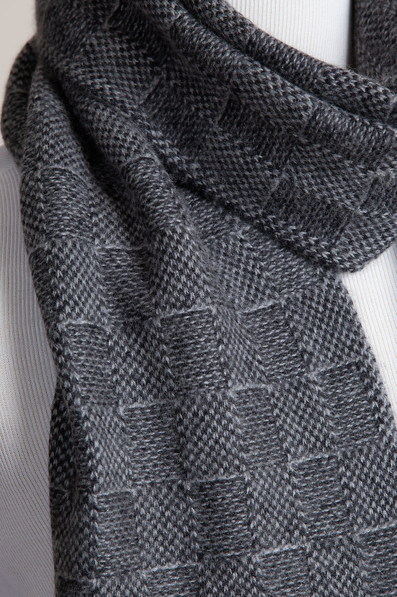 Tonal Knitted Cashmere Scarf