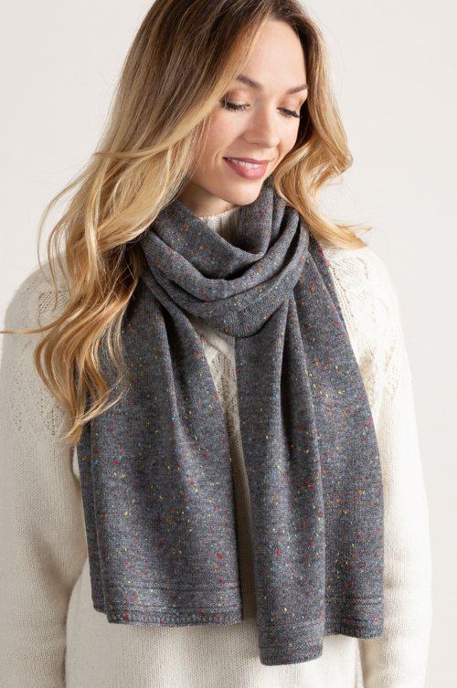 Speckled Merino Wool Scarf