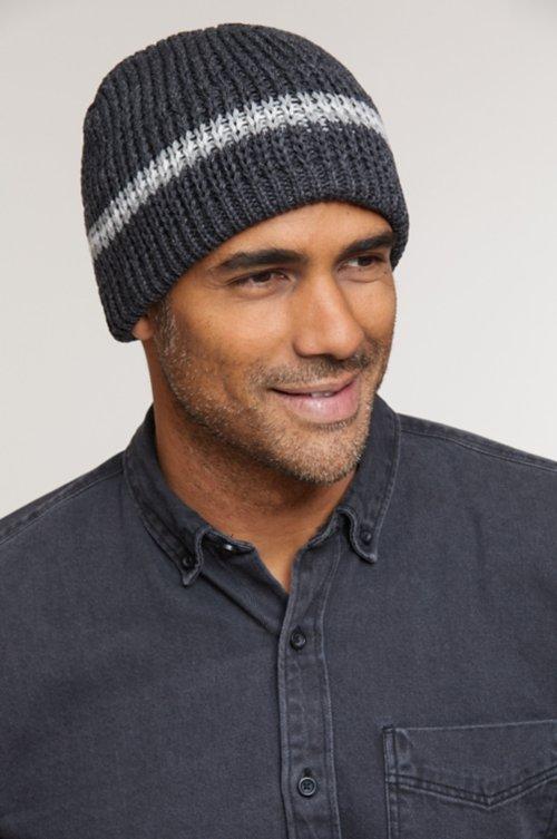Classic Stripe Wool Beanie Hat
