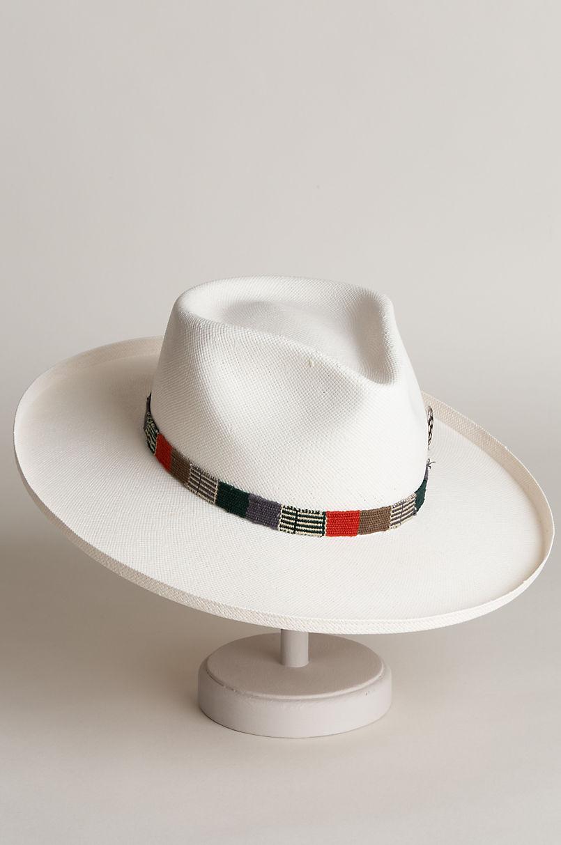 Carlos Santana Clapton Shantung Straw Fedora Hat