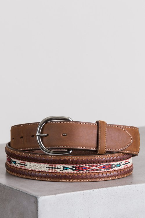 Braided Horsehair Ribbon and Leather Belt