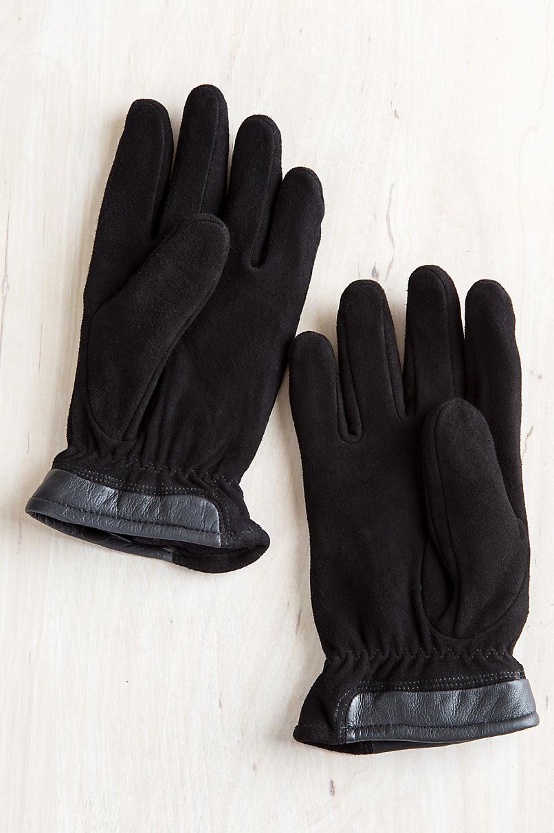 Men's Nash Fleece-Lined Deerskin Suede Leather Gloves