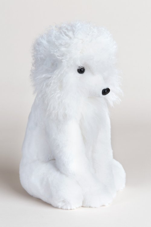 Blanc Rex Rabbit Fur Poodle