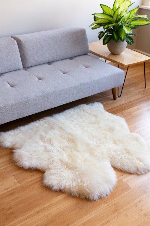 2-Pelt (3.5' x 3.5') Premium Australian Sheepskin Rug