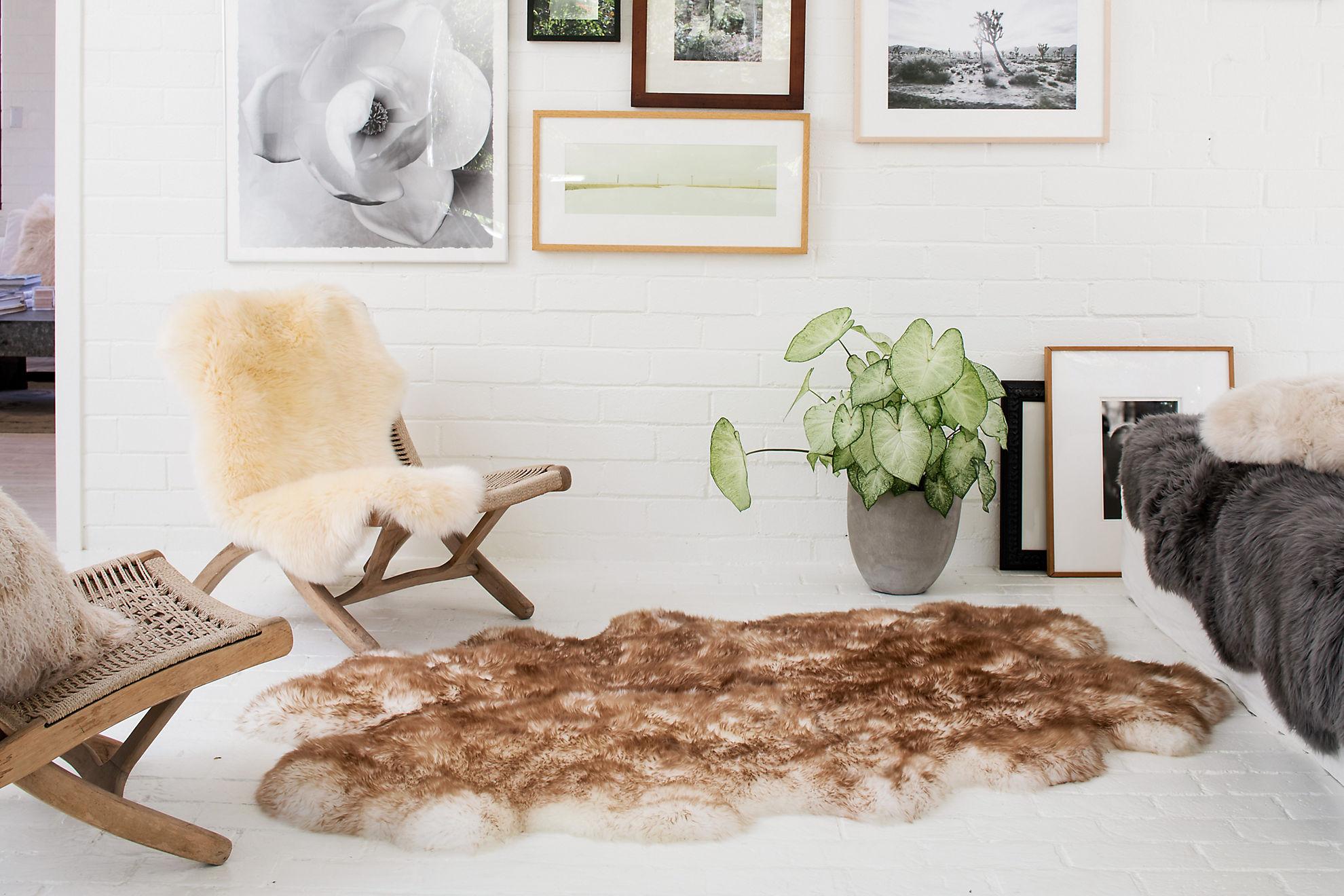 4-Pelt (4' x 6') Premium Australian Sheepskin Area Rug