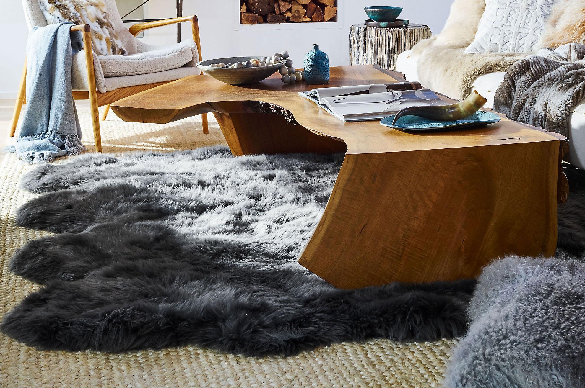 8-Pelt (6' x 7') Premium Australian Sheepskin Area Rug