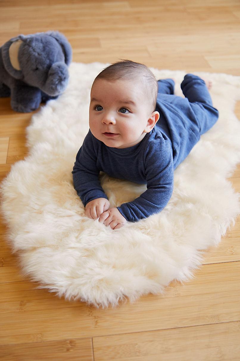 Long Wool Sheepskin Baby Rug Overland