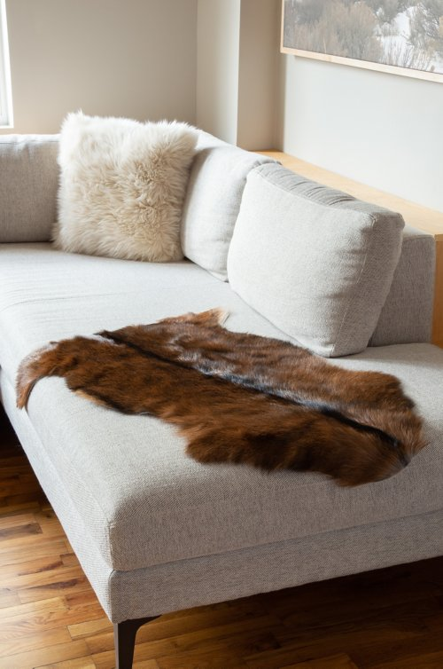Natural Goat Hide Rug