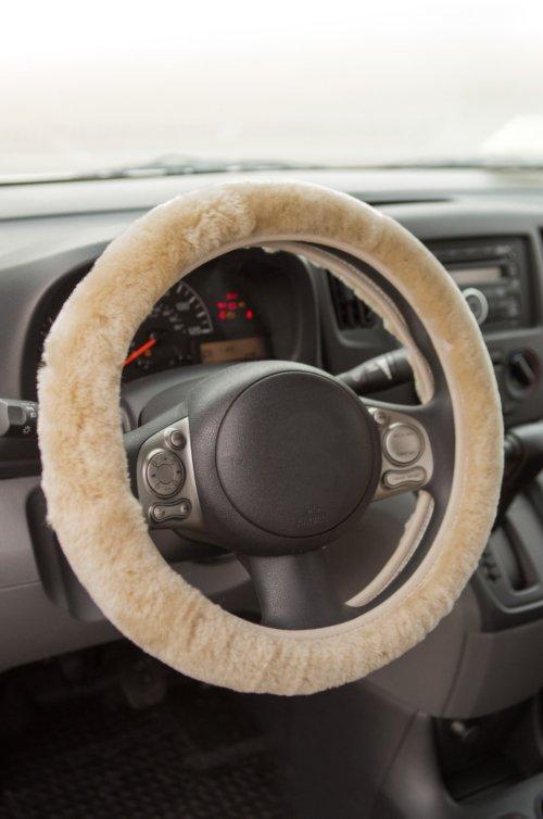 Universal Australian Merino Sheepskin Steering Wheel Cover
