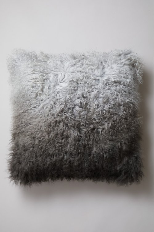 "24"" x 24"" Single-Sided Tibetan Lamb Fur Pillow"