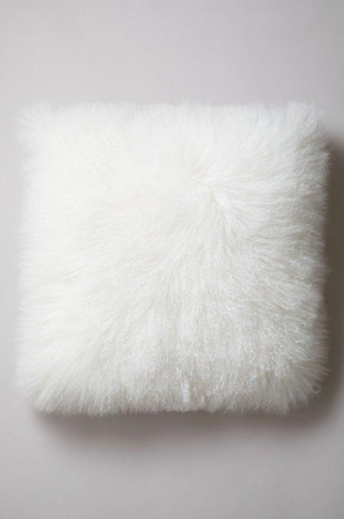 "24"" x 24"" Single-Sided Tibetan Lamb Fur Pillow"