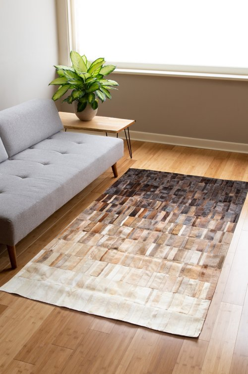 5' x 8' Cocoa Ombre Argentine Cowhide Rug