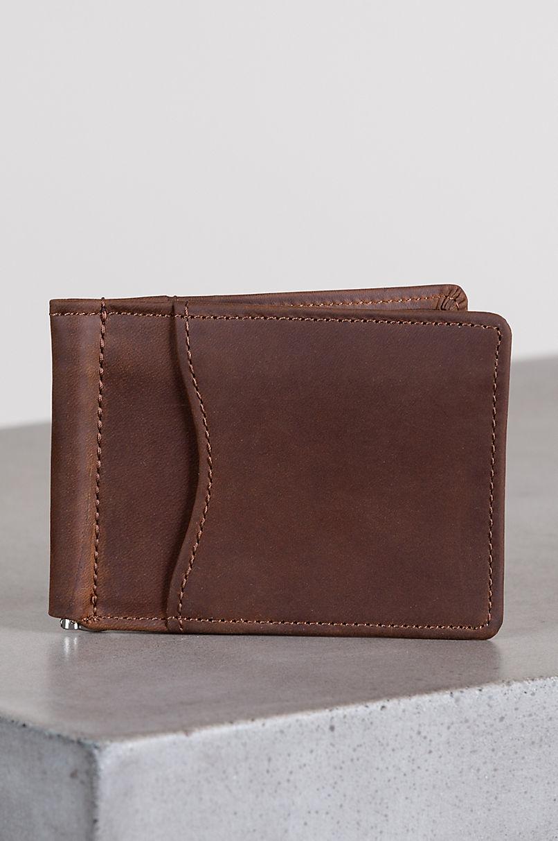Vanderbilt Leather Money Clip Wallet