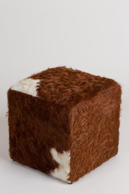 Argentine Cowhide Ottoman